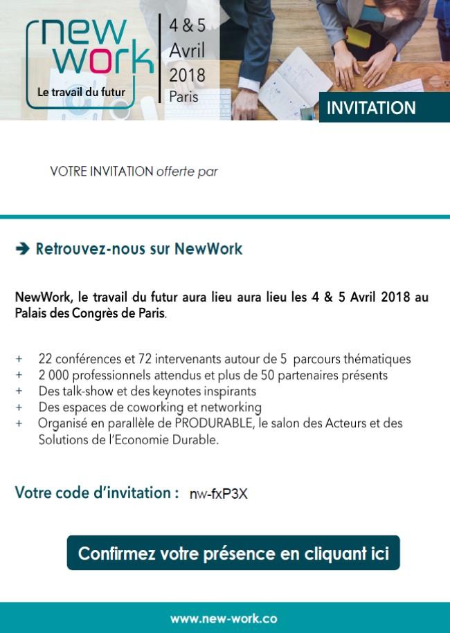 Invitation New Work
